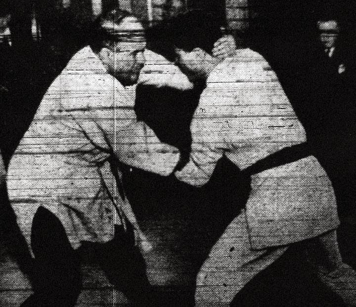 Jiu Jitsu Institute Sensei Mas Tamura (to the right)